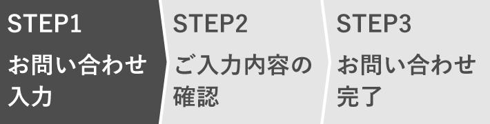 STEP1 お問い合わせ入力